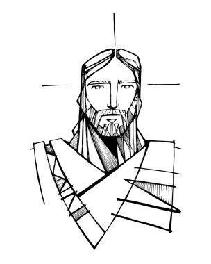 Jesus Christ face illustration