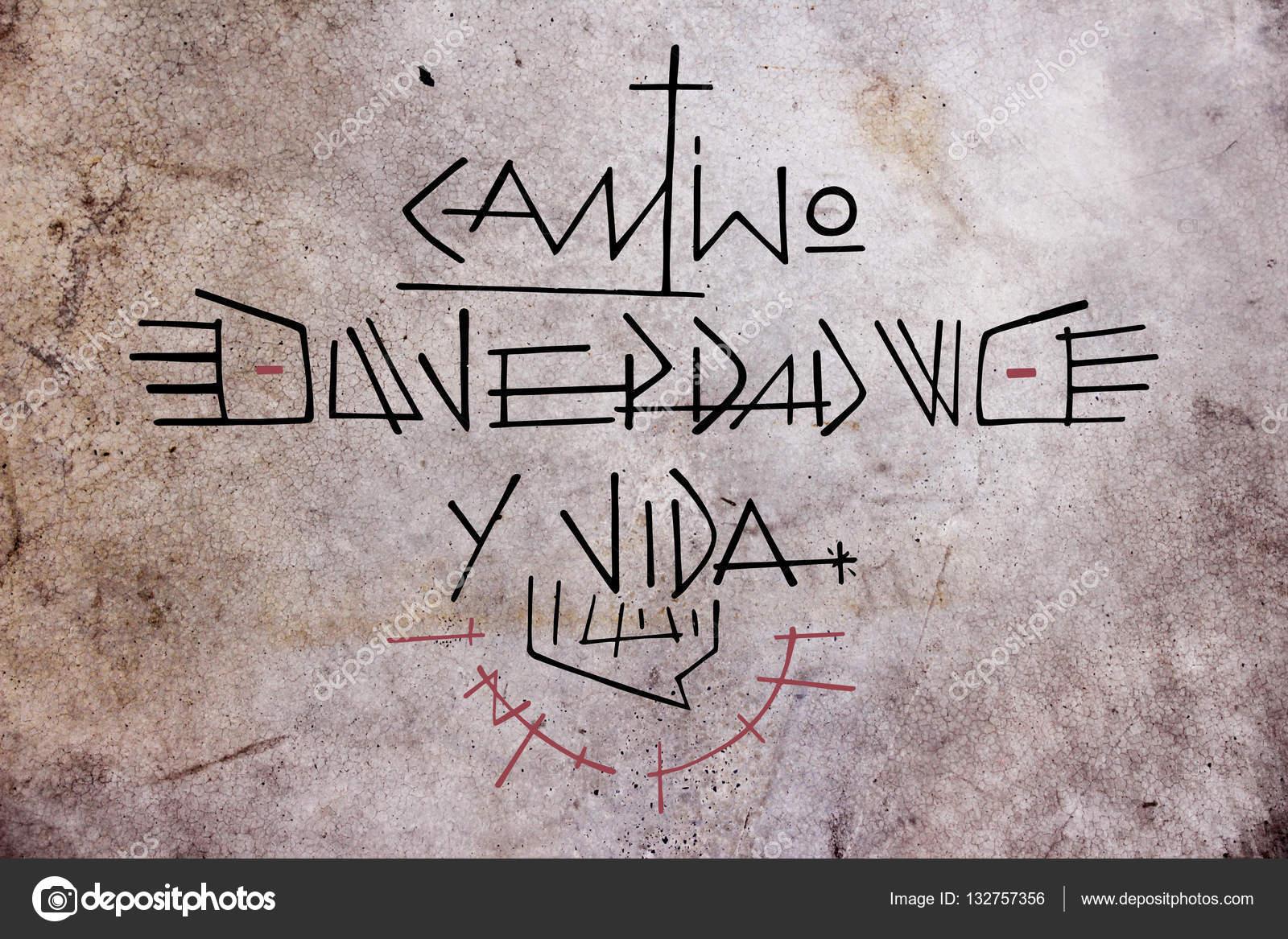 Frase De Jesus Cristo Em Espanhol Fotografias De Stock