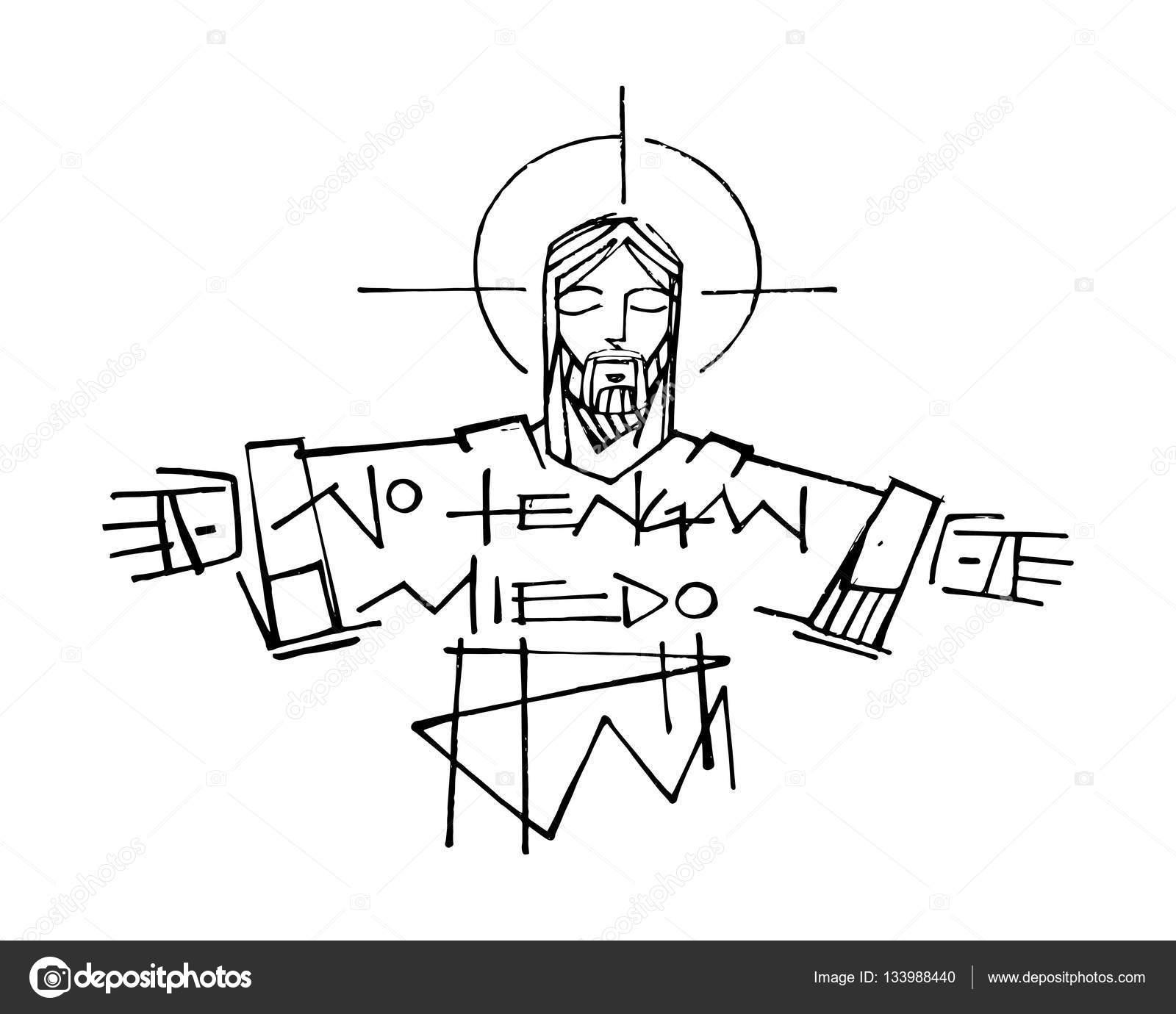 Jesús Cristo Y La Frase Vector De Stock Bernardojbp