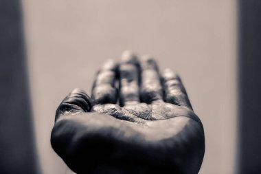 Open human hand