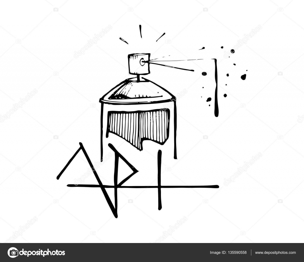 Spray paint can and the word art stock vector bernardojbp spray paint can and the word art stock vector ccuart Image collections