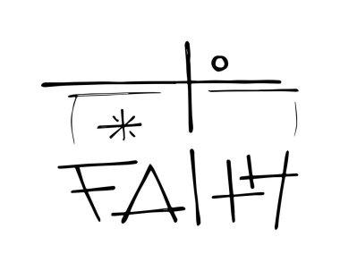 Religious Cross and Faith concept