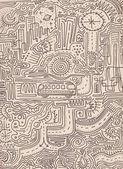 Fotografie Urban Labyrinth handgezeichnete Illustration