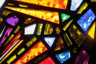 Stained glass colorful window texture