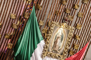 image of Mary of Guadalupe in Basilica de Guadalupe