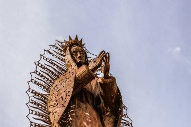 metal sculpture in Basilica de Guadalupe