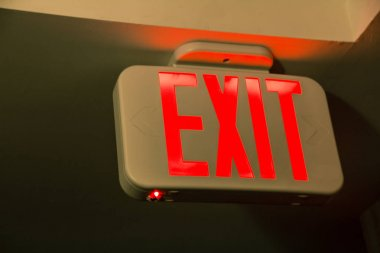 exit sign on wall