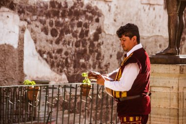 Musician at traditional mexican Callejoneada