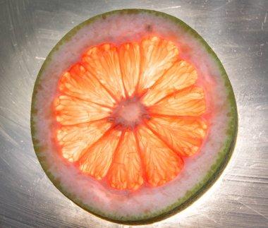Red grapefruit slice