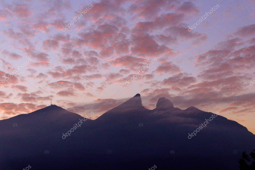 Cerro de la Silla mountain silhouette