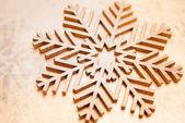 Vértes részletes lövés a fa hópehely szimbólum, karácsonyi ünnep háttere