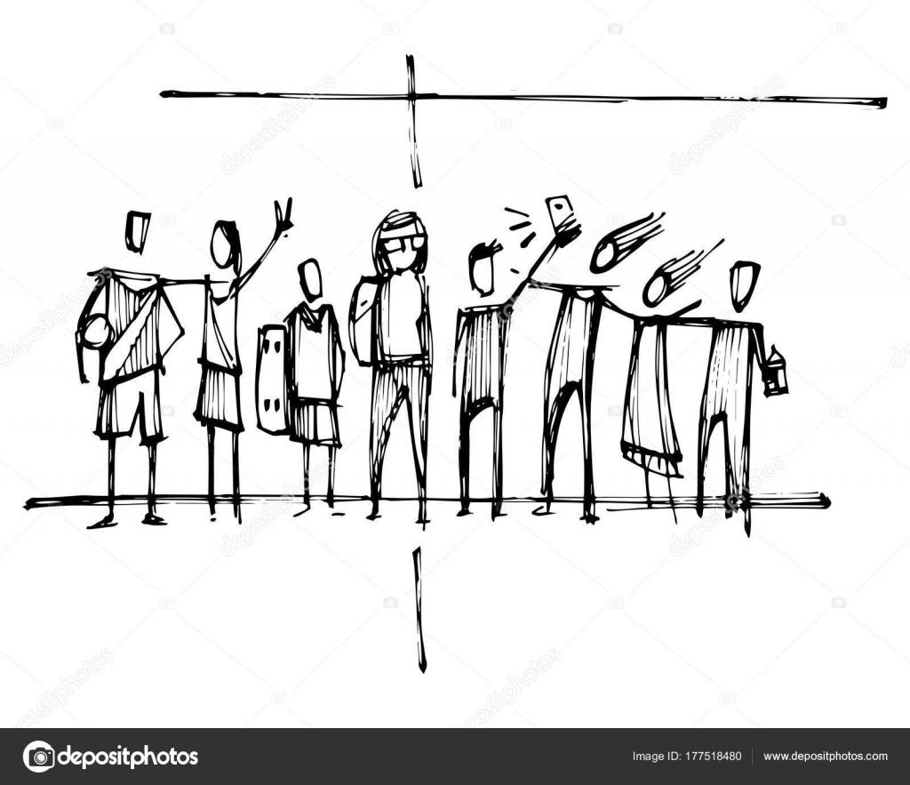 ilustração vetor mão desenhada desenho religiosos christian cross