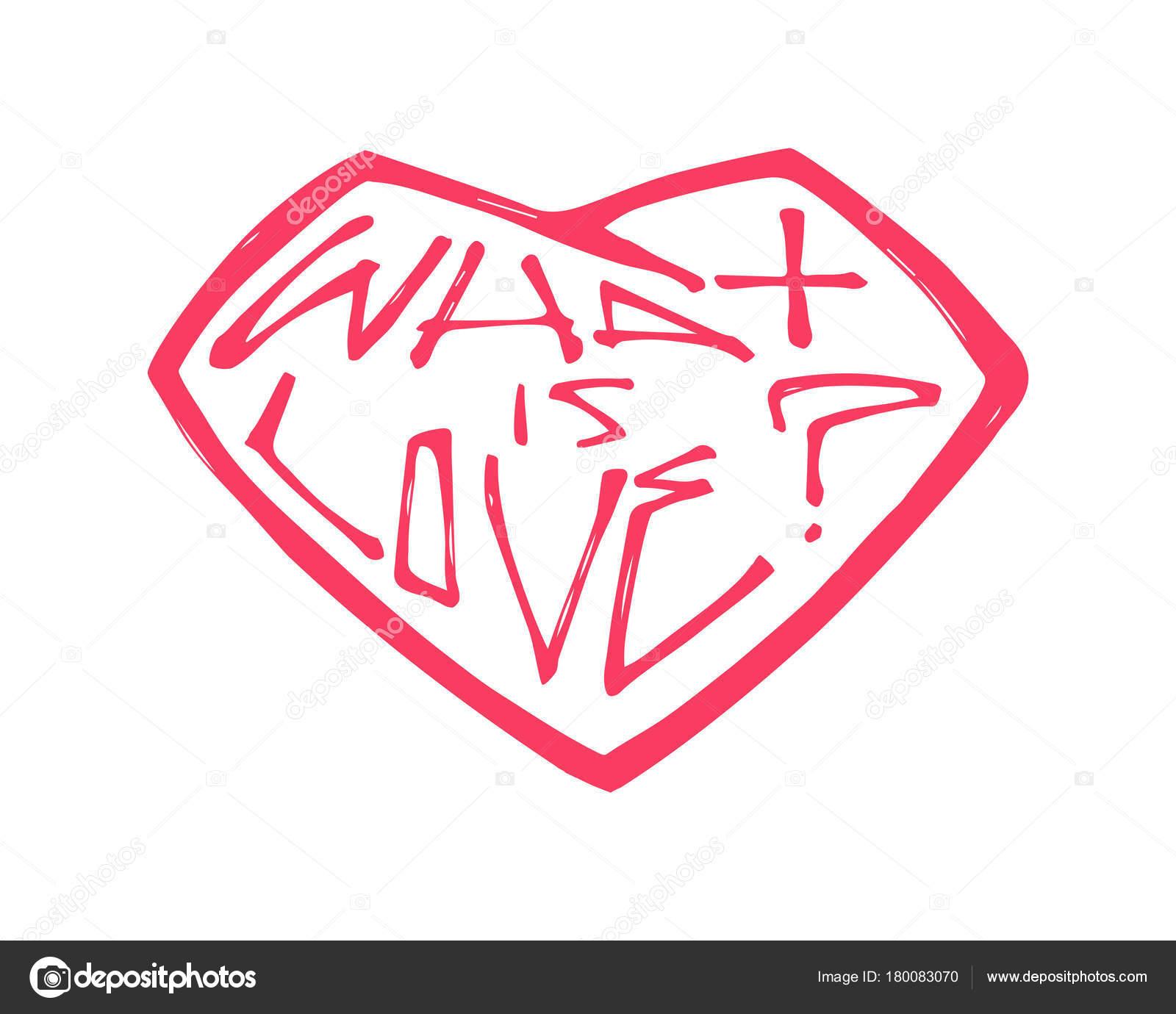 Dibujos Frases De Amor Ilustracion Vector Dibujado Mano Dibujo