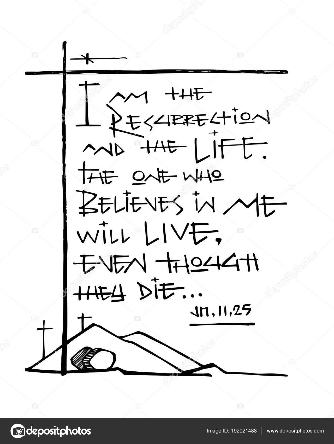 Ilustração Vetor Mão Desenhada Desenho Frase Bíblia Sou