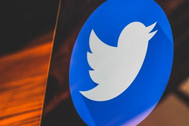 Dallas, Texas, United States - 05/10/2018: Photograph of twitter logo on laptop screen.