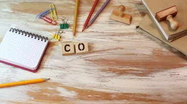 core values concept. Wooden letters on the office desk