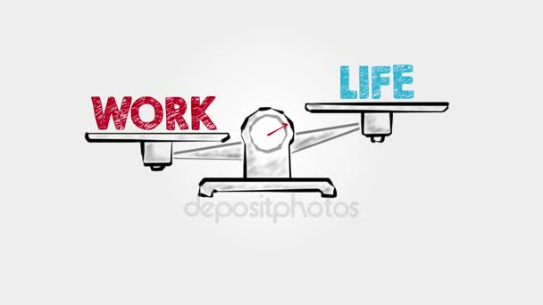 Career Life Balance. Black scale on a gray background