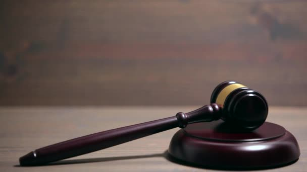 Closeup of Wooden Courtroom Gavel