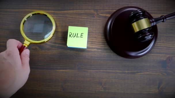 Rule. Law, regulation, justice and legal services concept