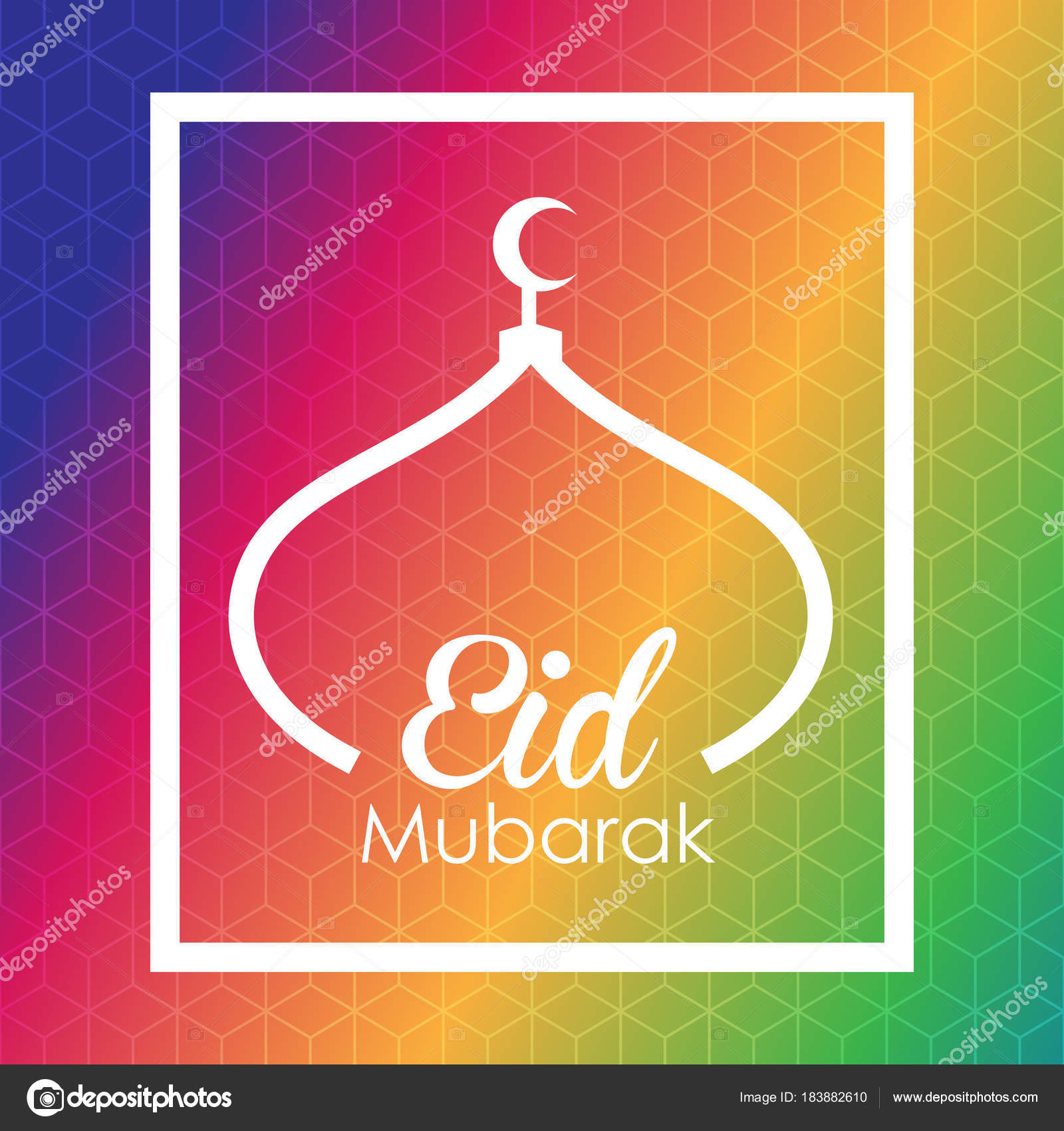 Eid mubarak greeting card stock vector esbeauda 183882610 eid mubarak greeting card stock vector m4hsunfo