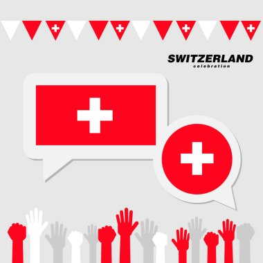 National celebration with Switzerland flag decoration