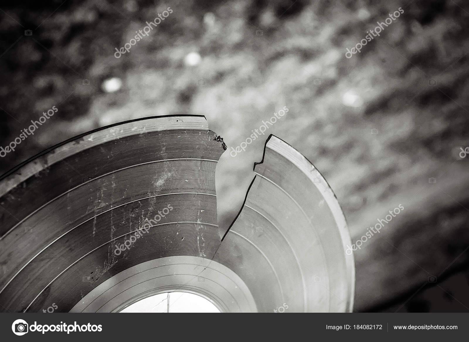 Broken Vinyl Record Analog Sound Stock Photo