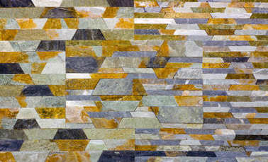 Modern Multi Color Stone, slate travertine sandstone Wall used for Background