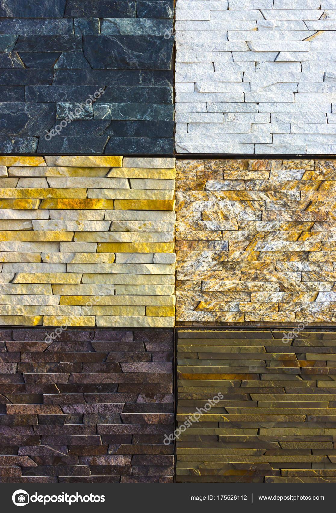 Various decorative tiles, and natural stone samples — Stock Photo ...