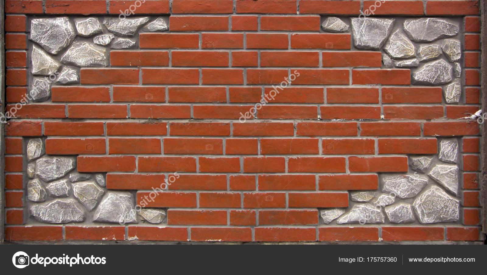 Wystawa Płot Próbki Z Dekoracyjne Bloczki Betonowe Zdjęcie