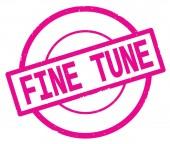 Testo fine Tune, scritto sul bollo cerchio semplice rosa.