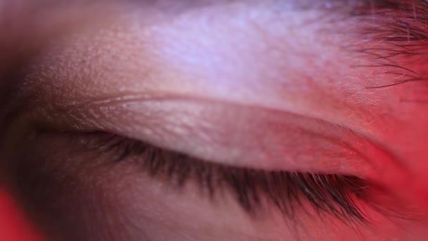 Closeup on eye openning