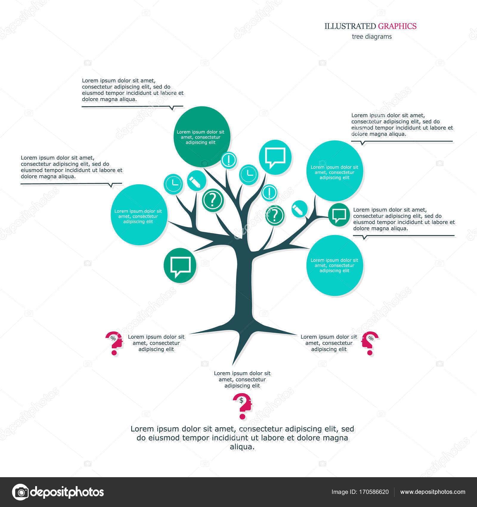 Tree as a business template for your presentation illustrated tree as a business template for your presentation illustrated graphics for the layout workflow cheaphphosting Image collections