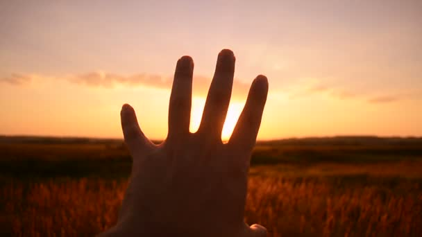 To be enough with a hand a sunset