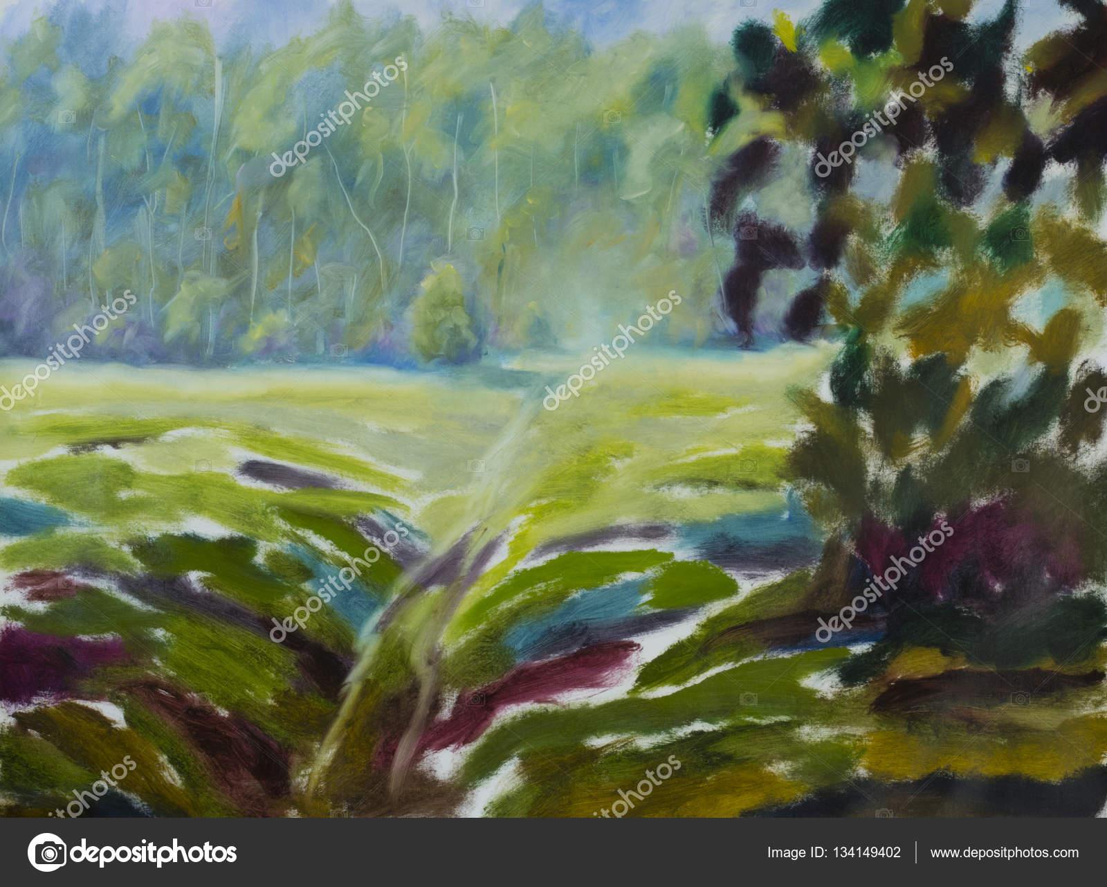 Obraz Olejny Sosny Drzew I Krzewów Las Impresjonizmu Sztuki