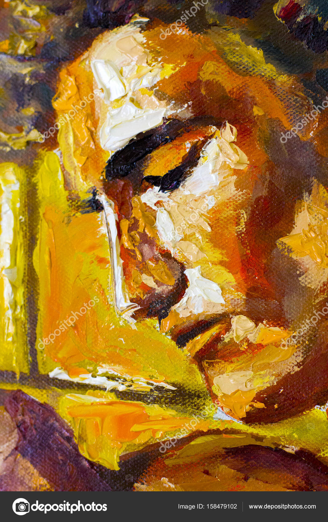 Abstract nude male man is standing by wall Original Oil Painting on ...