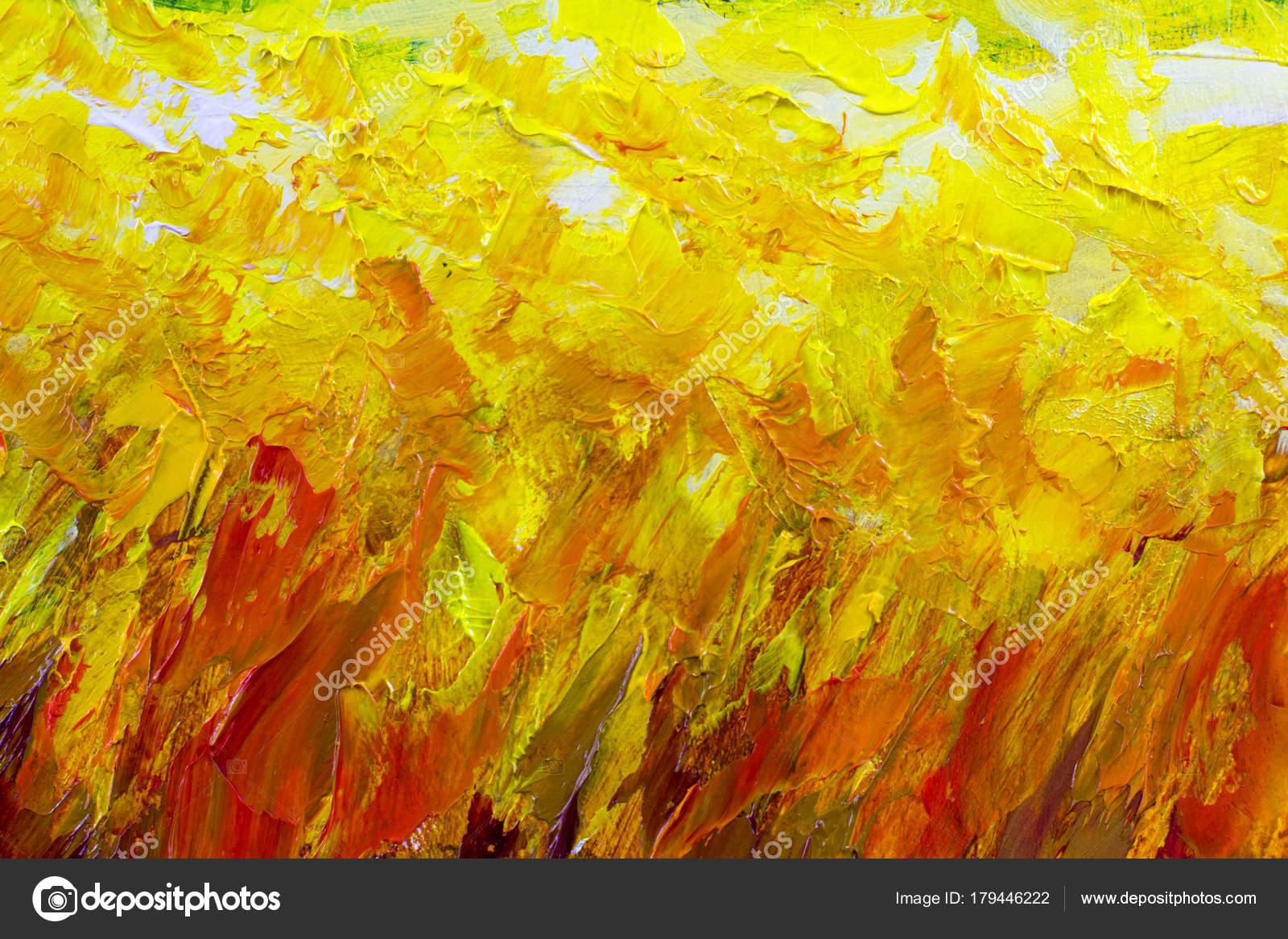 gelb orange rot feuer textur abstrakte malerei fragment vektor