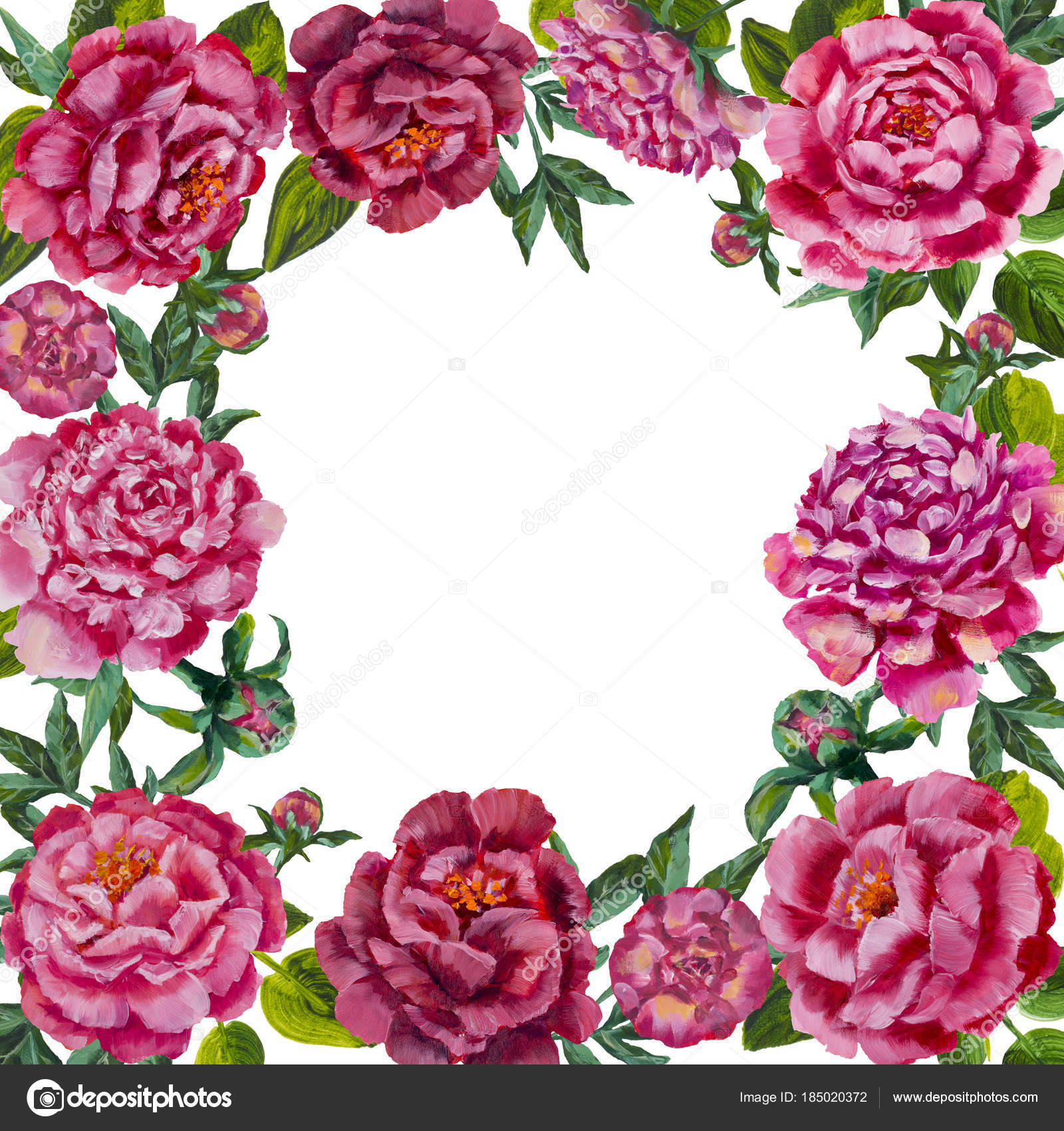 Oil painting pink flower peonies roses frame background flower oil painting pink flower peonies roses frame background flower wreath stock photo mightylinksfo