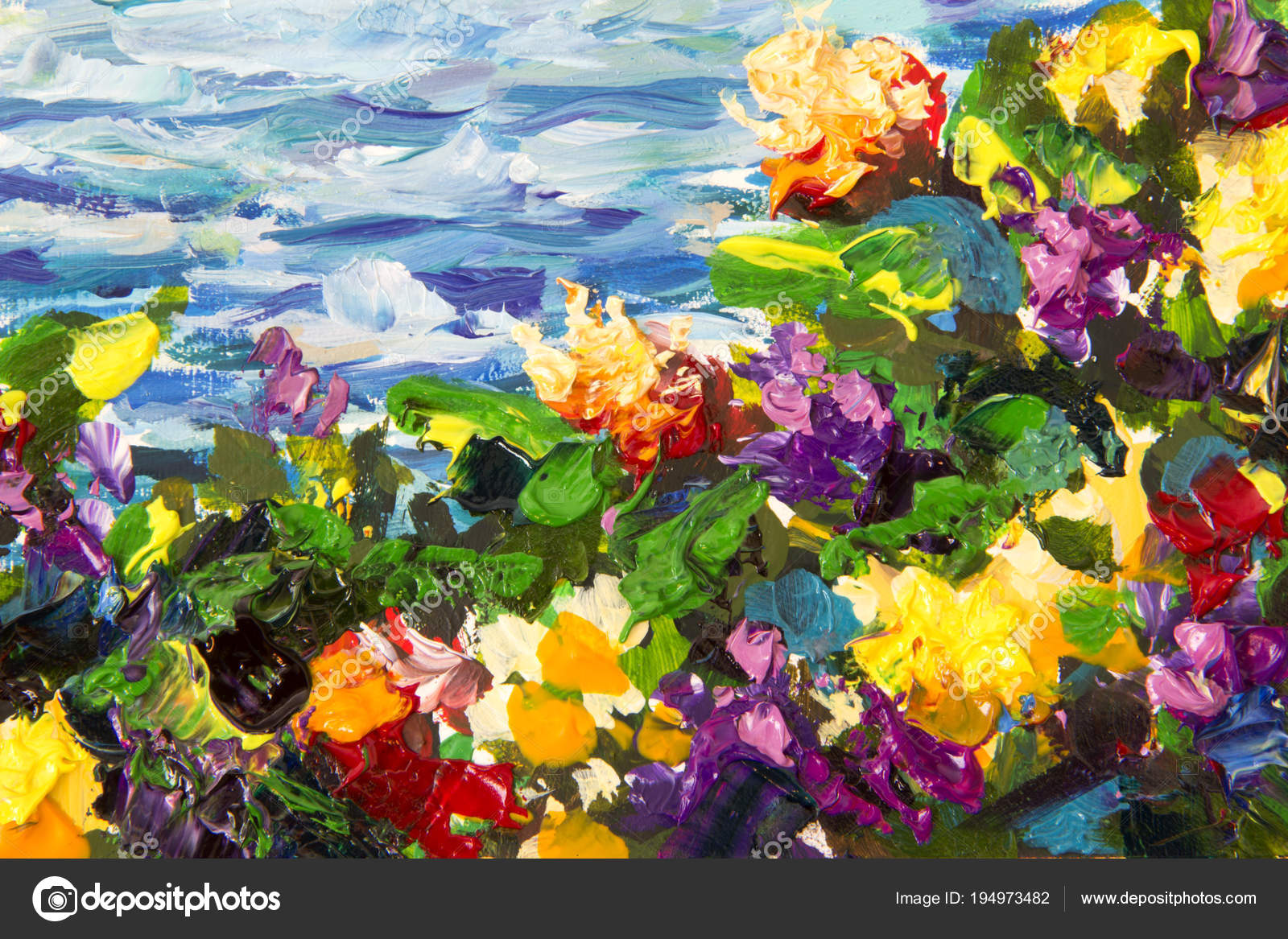 Pintura De Flores Al Oleo Con Espatula Paisajes
