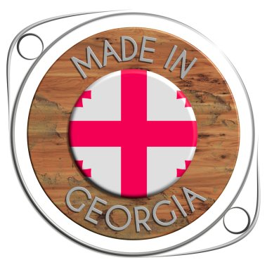 Made of metal and grunge wooden GEORGIA