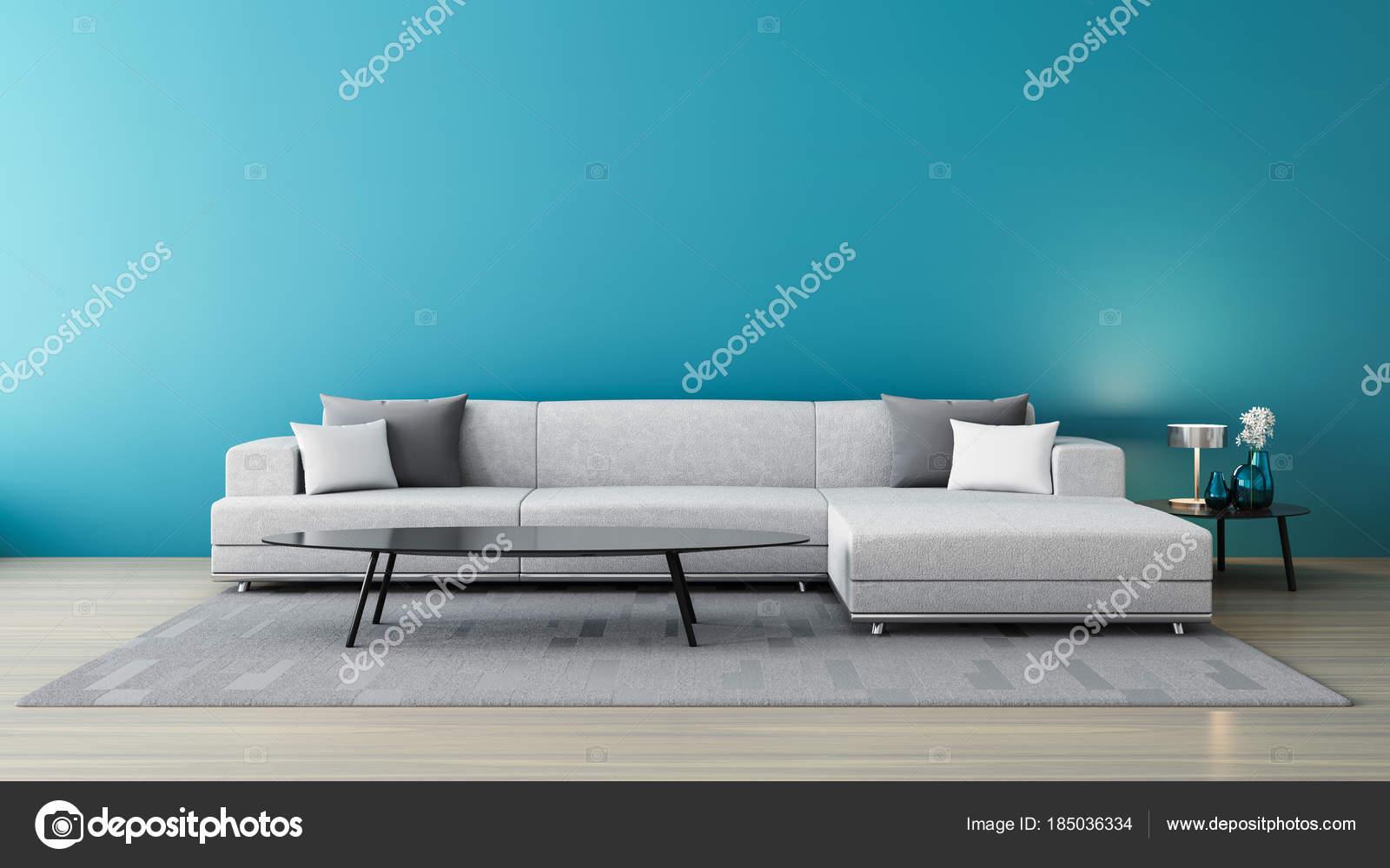 Stunning Blauwe Muur Woonkamer Ideas - New Home Design 2018 ...