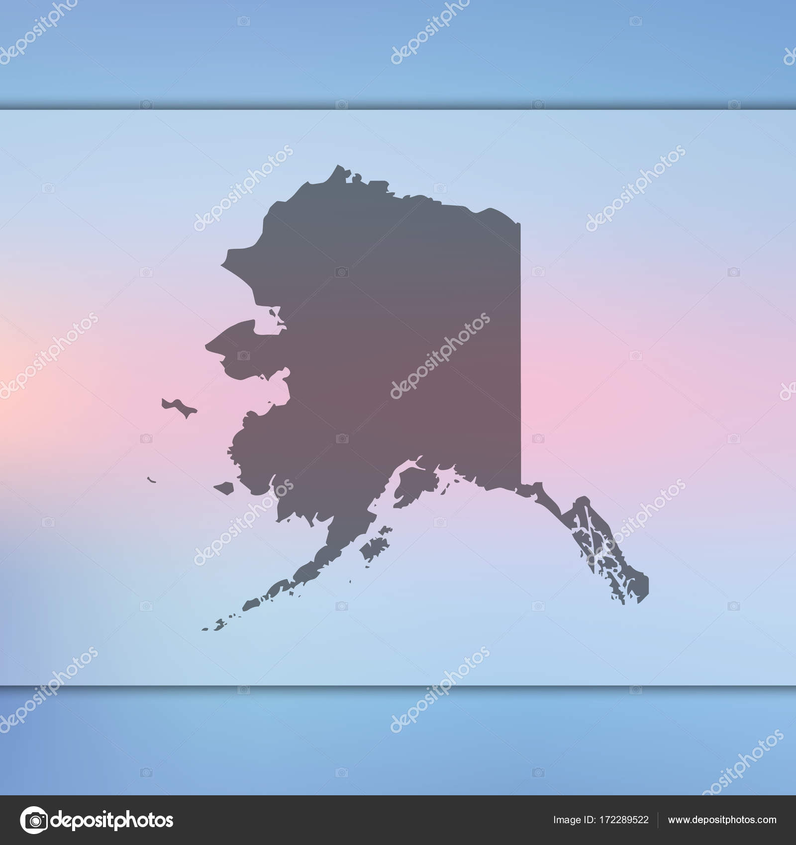 USA map. Vector silhouette of USA. Blurred background. United States ...