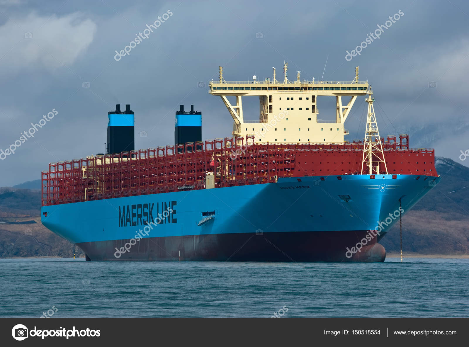 Container ship Madrid Maersk  – Stock Editorial Photo