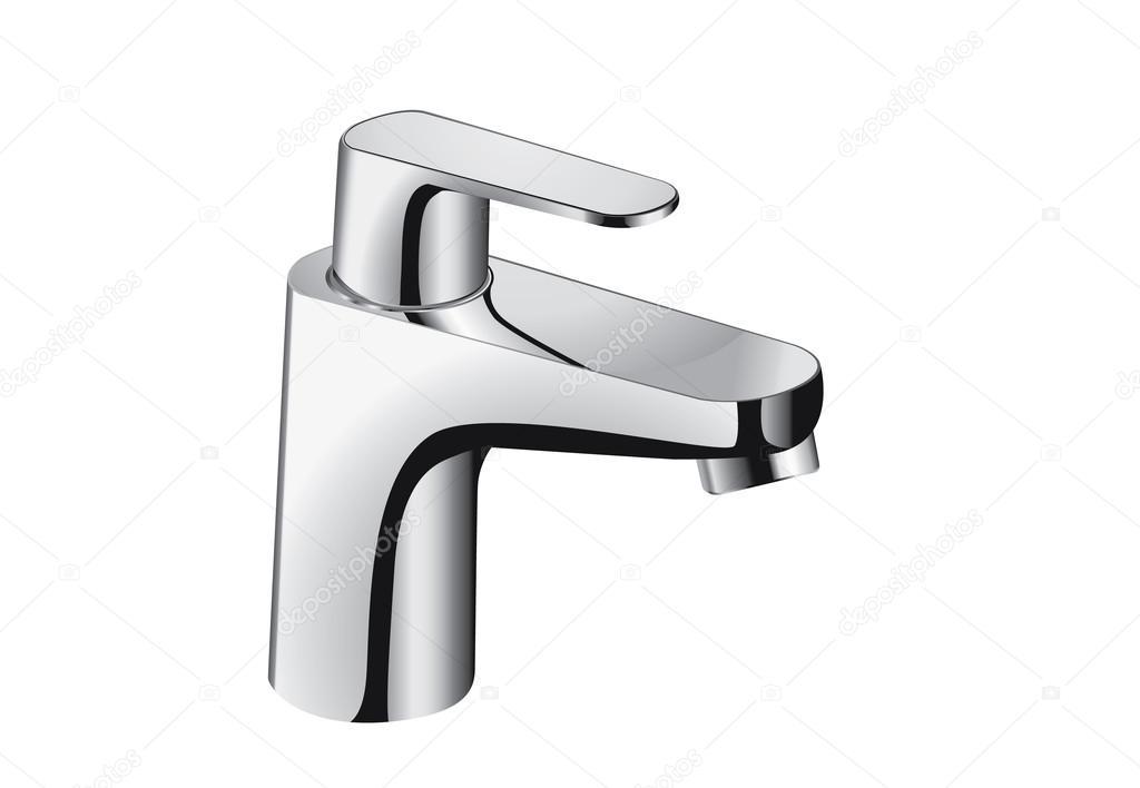 Silver bathroom faucet. — Stock Vector © solar22 #126049800