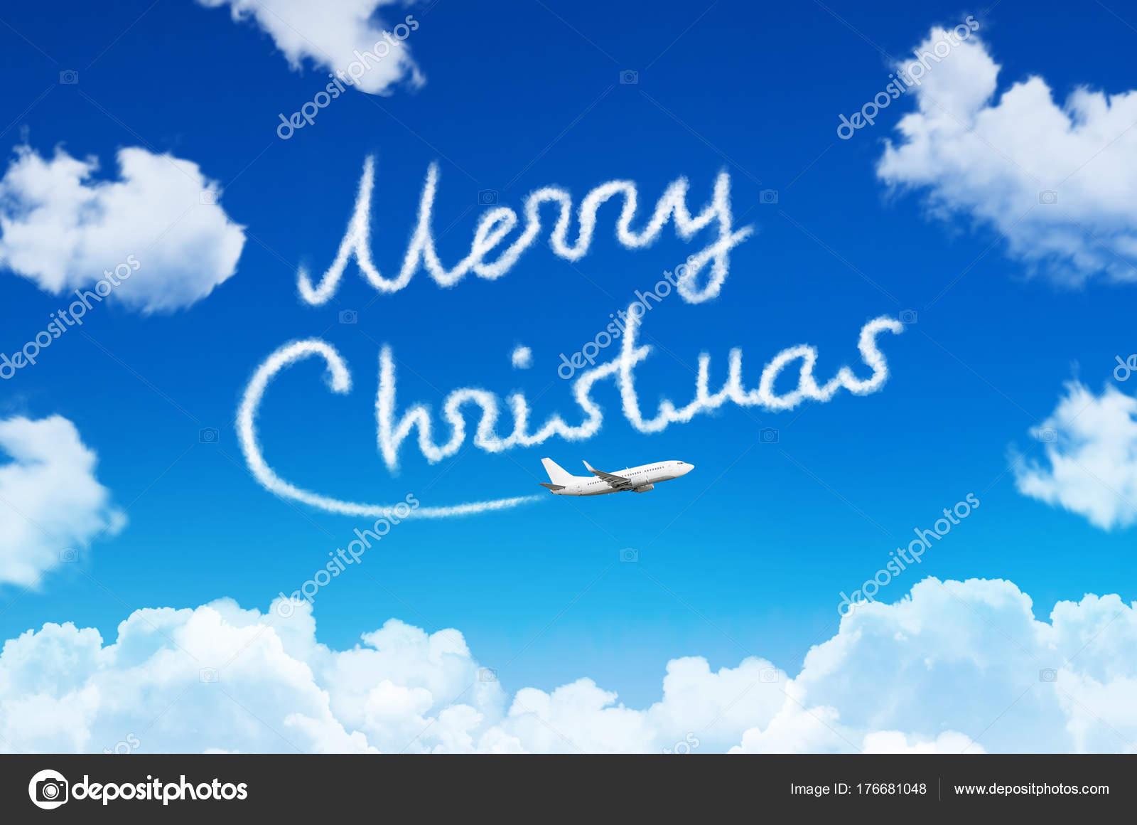 Frohe Weihnachten Flugzeug.Glucklich Frohe Weihnachten Konzept Zeichnung Von Flugzeug