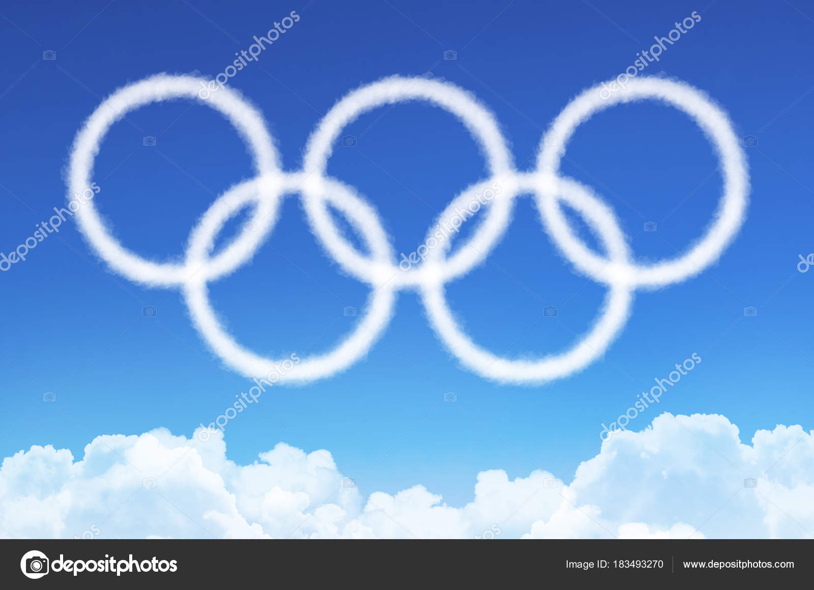 Olympic games symbol white rings from clouds of steam russia olympic games symbol white rings from clouds of steam russia moscow 09 february biocorpaavc Images
