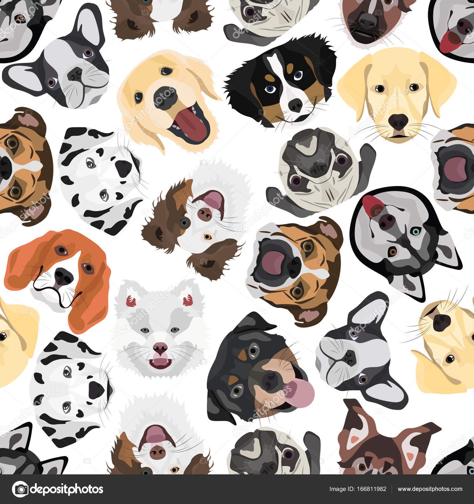 Ilustración transparente patrón perros — Vector de stock ...
