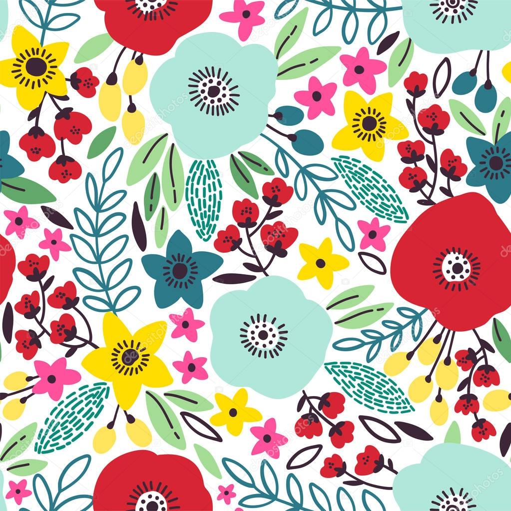 Beauty seamless poppy pattern