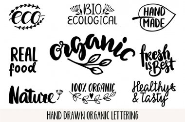Hand drawn Eco friendly lettering