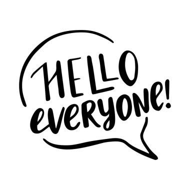 Hello everyone lettering