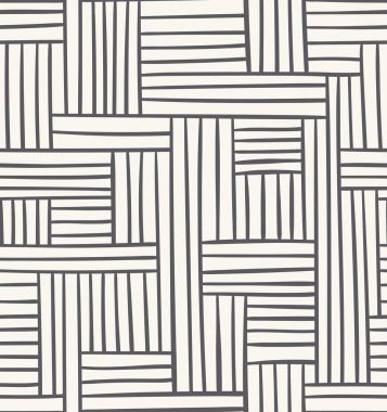 Vector seamless geometric pattern. Abstract illustration in grey color